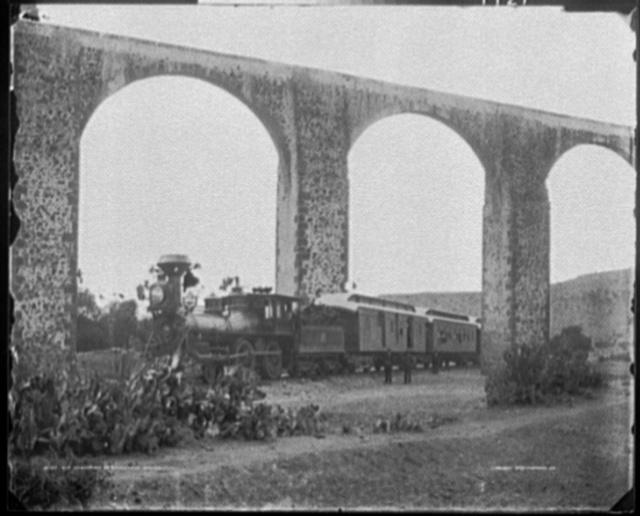 Old aqueduct at Queretaro, Mexico