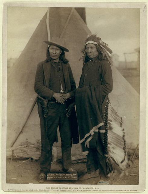 """Red Cloud and American Horse."" The two most noted chiefs now living"