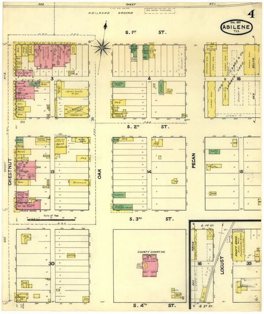 Sanborn Fire Insurance Map from Abilene, Taylor County ... on map texas tx, map of taylor county tx, map of guthrie tx, map of post tx, map of glendale tx, map of hill county tx, map of shreveport tx, map of hamlin tx, map of knox city tx, map of spartanburg tx, map of texoma tx, map of ardmore tx, map of garza county tx, map of dimmit county tx, map of young county tx, map of memphis tx, map of tuscola tx, map of menard county tx, map of winkler county tx, map of crane tx,