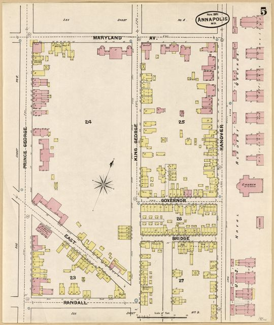 Sanborn Fire Insurance Map from Annapolis, Anne Arundel County, Maryland.