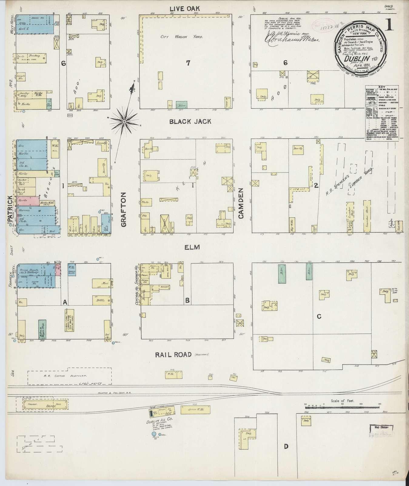 Sanborn Fire Insurance Map from Dublin, Erath County, Texas