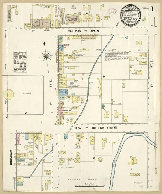 Sanborn Fire Insurance Map from Sonoma, Sonoma County, California.
