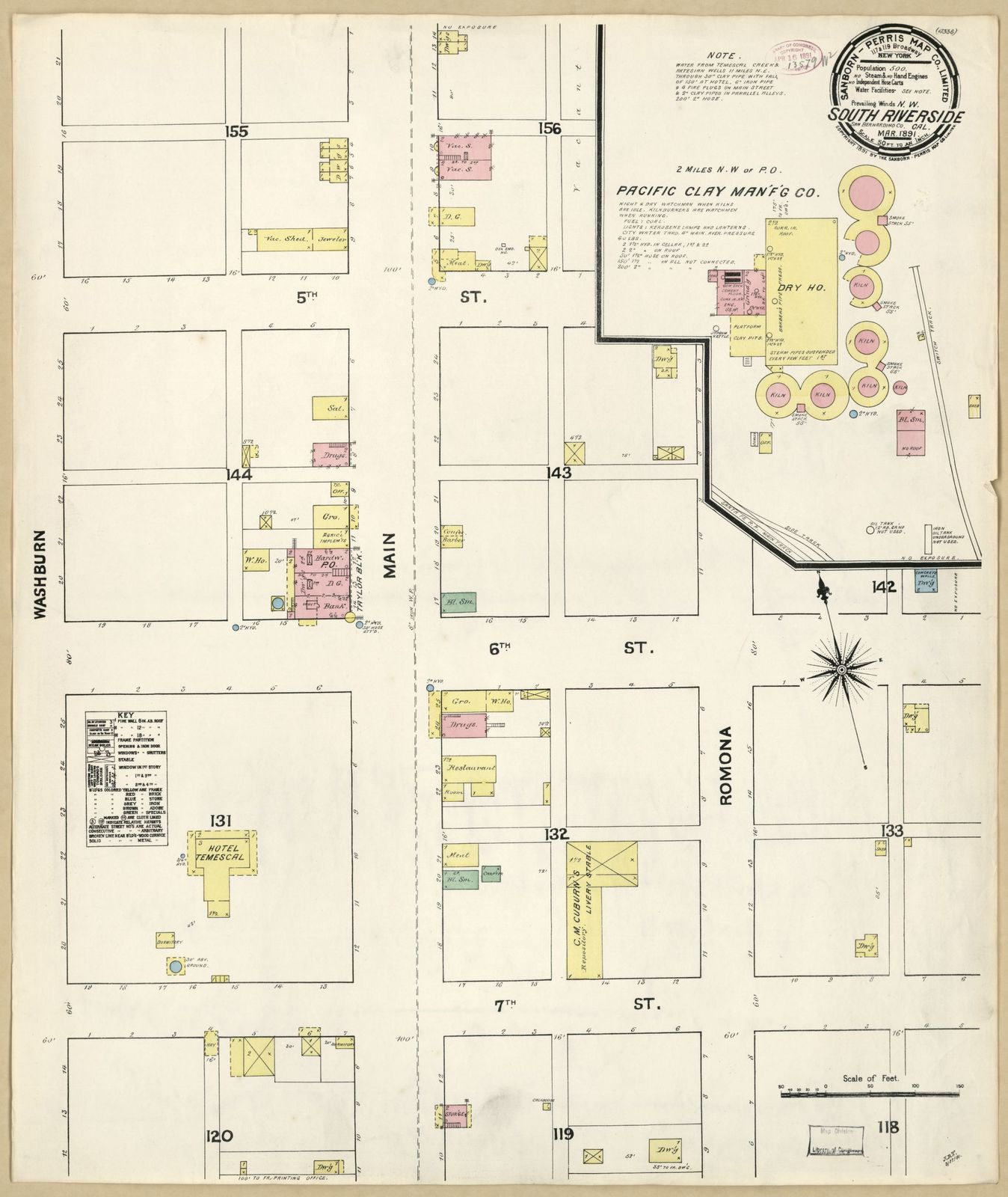 Sanborn Fire Insurance Map From South Riverside Riverside County