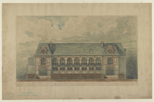 [Stable at Belcourt, summer estate for Oliver H.P. Belmont, Newport, R.I.] / R.M. Hunt archt.