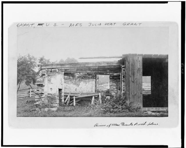 "[Stone summer kitchen on grounds of ""Whitehaven"", St. Louis County, Missouri]"