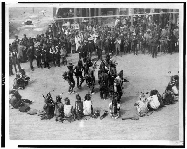 The Great Omaha pow-wow dance of the Cheyennes in Montana / Wiley Bros., photographers, successors to L.A. Huffman, Miles City, Montana.