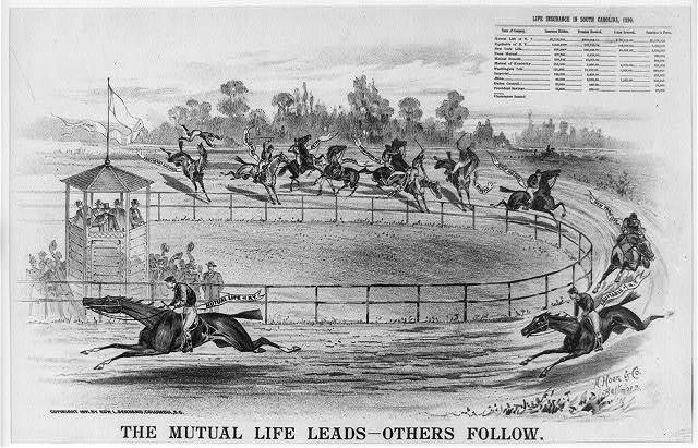 The mutual life leads - others follow / A. Hoen & Co. Baltimore.