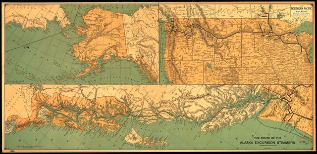 The route of the Alaska excursion steamers.