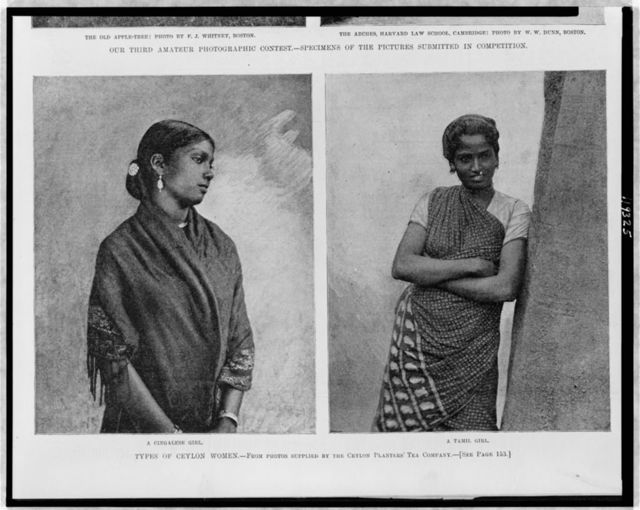 Types of Ceylon women / from photos supplied by the Ceylon Planters' Tea Company.