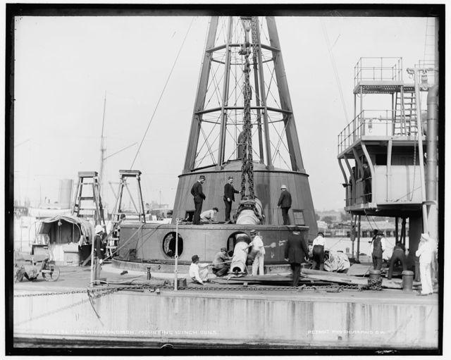 U.S.S. Miantonomoh, mounting 10 inch guns