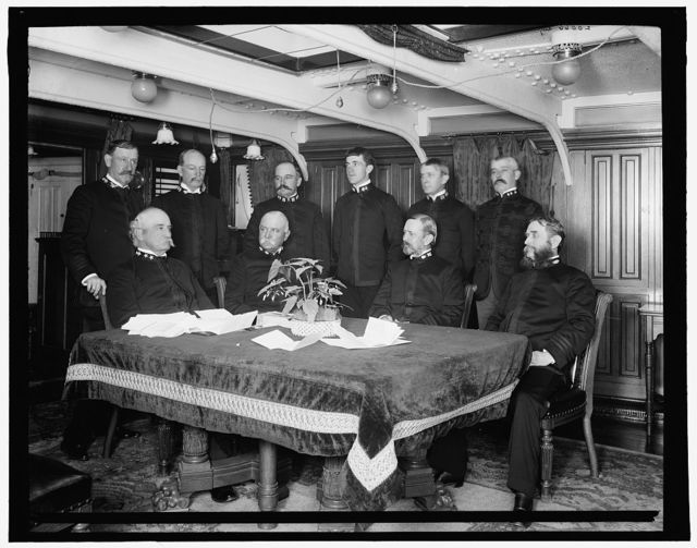 U.S.S. Newark, Admiral Bunce and staff