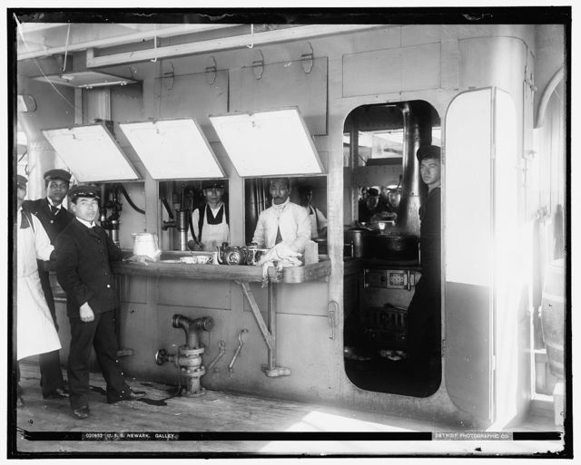 U.S.S. Newark galley