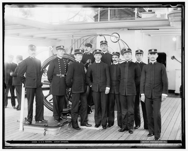 U.S.S. Newark, junior officers