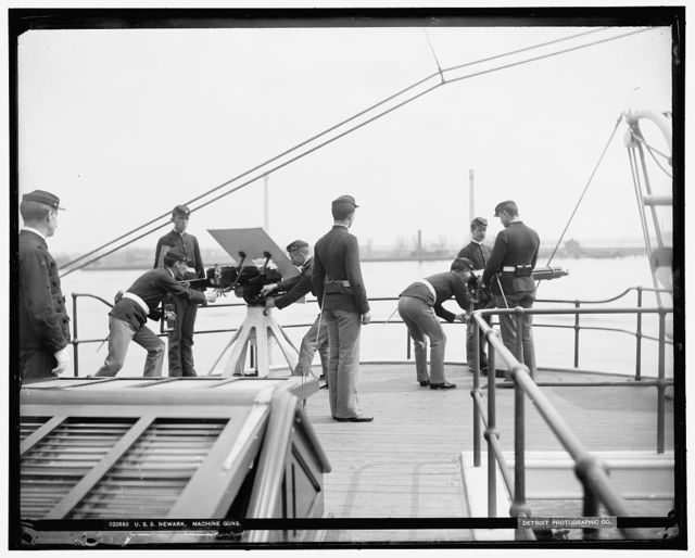 U.S.S. Newark, machine guns