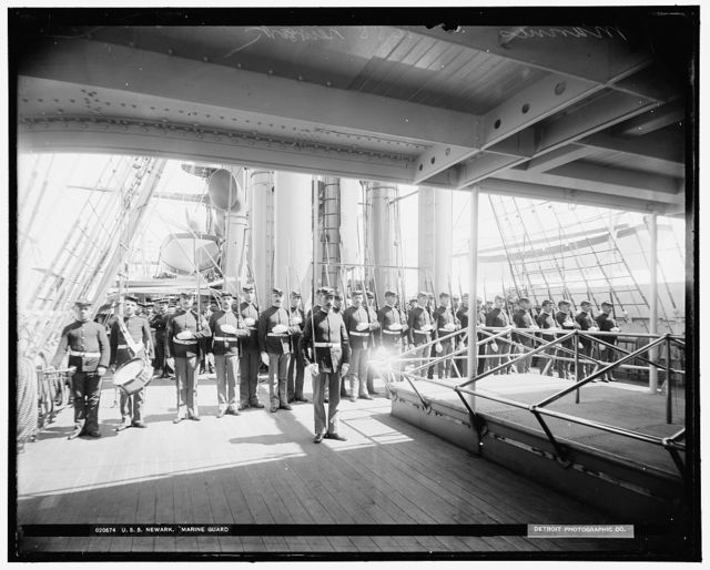 U.S.S. Newark, marine guard