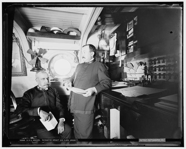 U.S.S. Newark, Paymaster Wright and clerk Gressitt