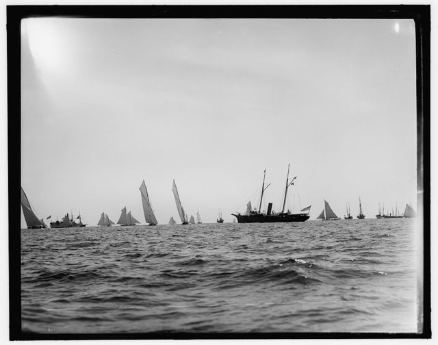 View at start, Goelet Cup Race, 1891