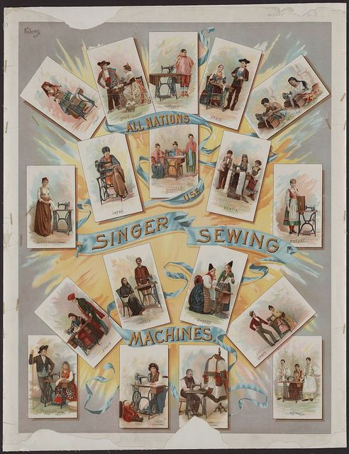 All nations use Singer sewing machines / J. Ottmann Lith. Co., Puck Building, N.Y.
