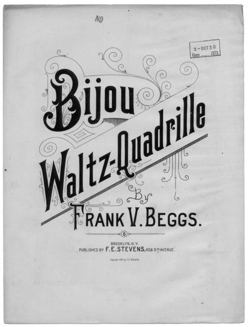 Bijou waltz quadrille