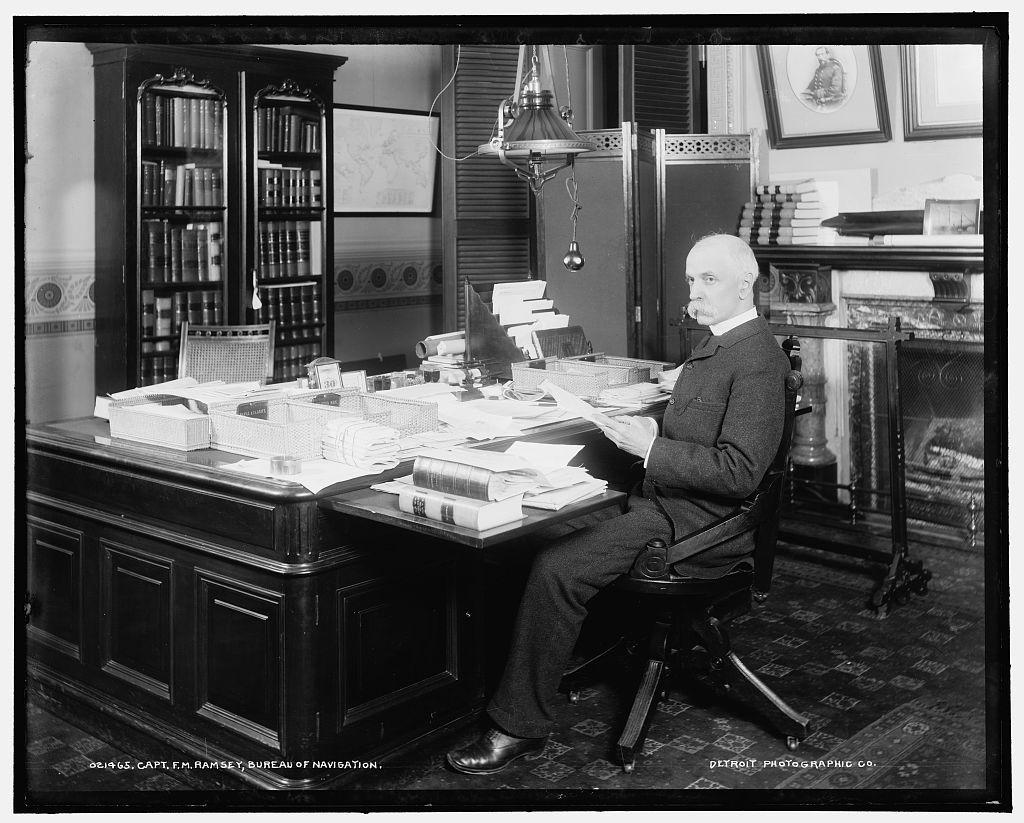 Capt. F.M. Ramsey [i.e. Ramsay], Bureau of Navigation