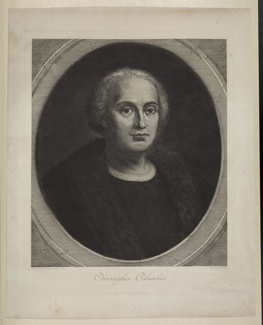 [Christopher Columbus, bust portrait, facing right, in medallion]
