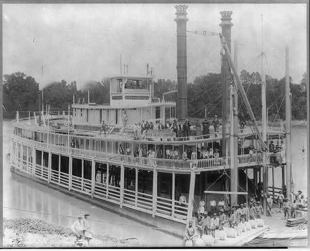 """City of Paducah"" (steamer), St. Louis & Tennessee River Packet Co., Pittsburg Landing, Tenn. Aug. 1892 near Battlefield (Shiloh)"