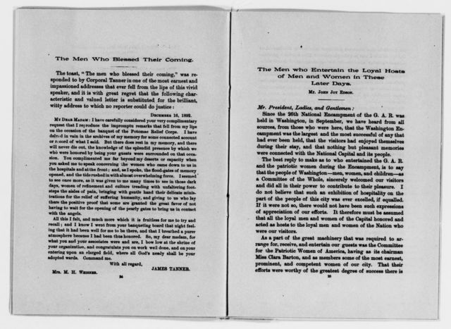 Clara Barton Papers: Miscellany, 1856-1957; Holiday greetings and enclosures, acknowledgments, 1892-1894