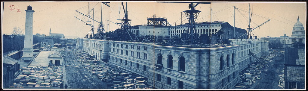 Construction of the Library of Congress, Washington, D.C., April 23, 1892