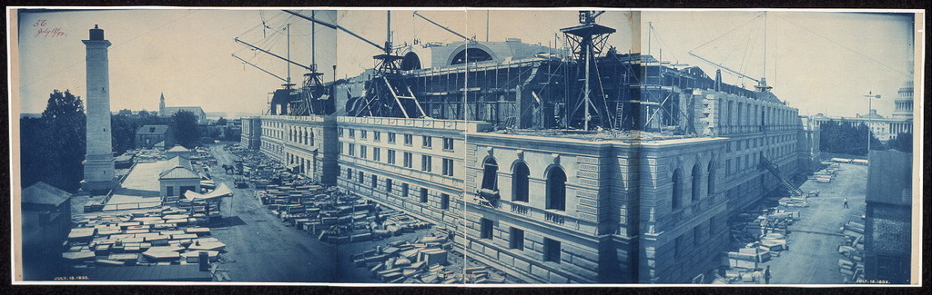 Construction of the Library of Congress, Washington, D.C., July 18, 1892