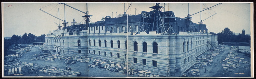 Construction of the Library of Congress, Washington, D.C., June 28, 1892