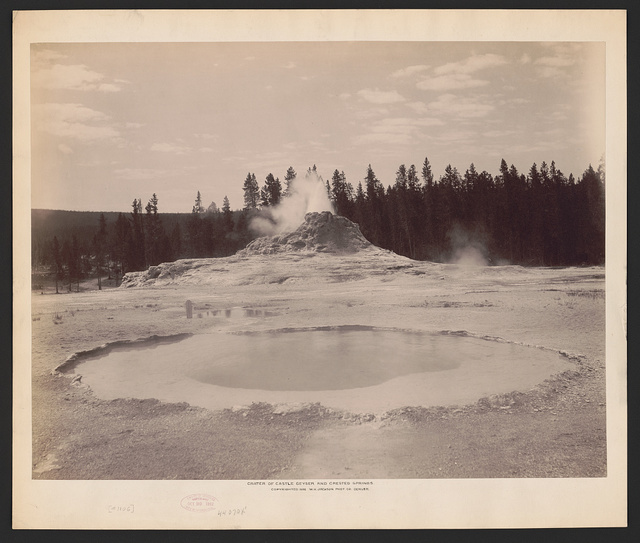 Crater of Castle Geyser and Crested Springs
