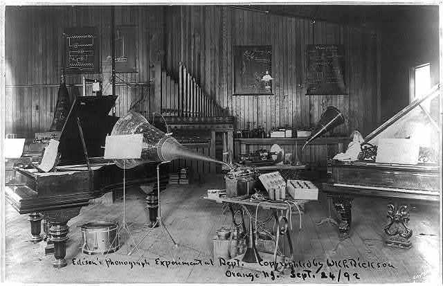 Edison's phonograph, Experimental Dept., Orange, N.J.