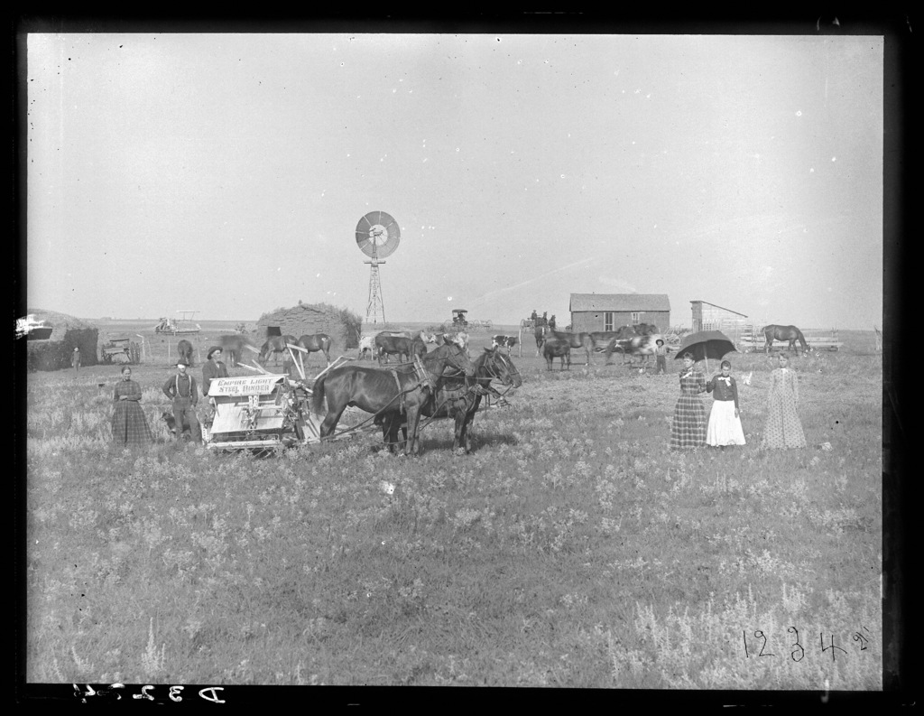 Farm in southwestern Custer County, Nebraska.