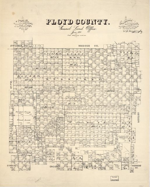 Floyd County : General Land Office, June 1892 /
