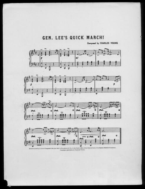 Gen. Lee's quick march!