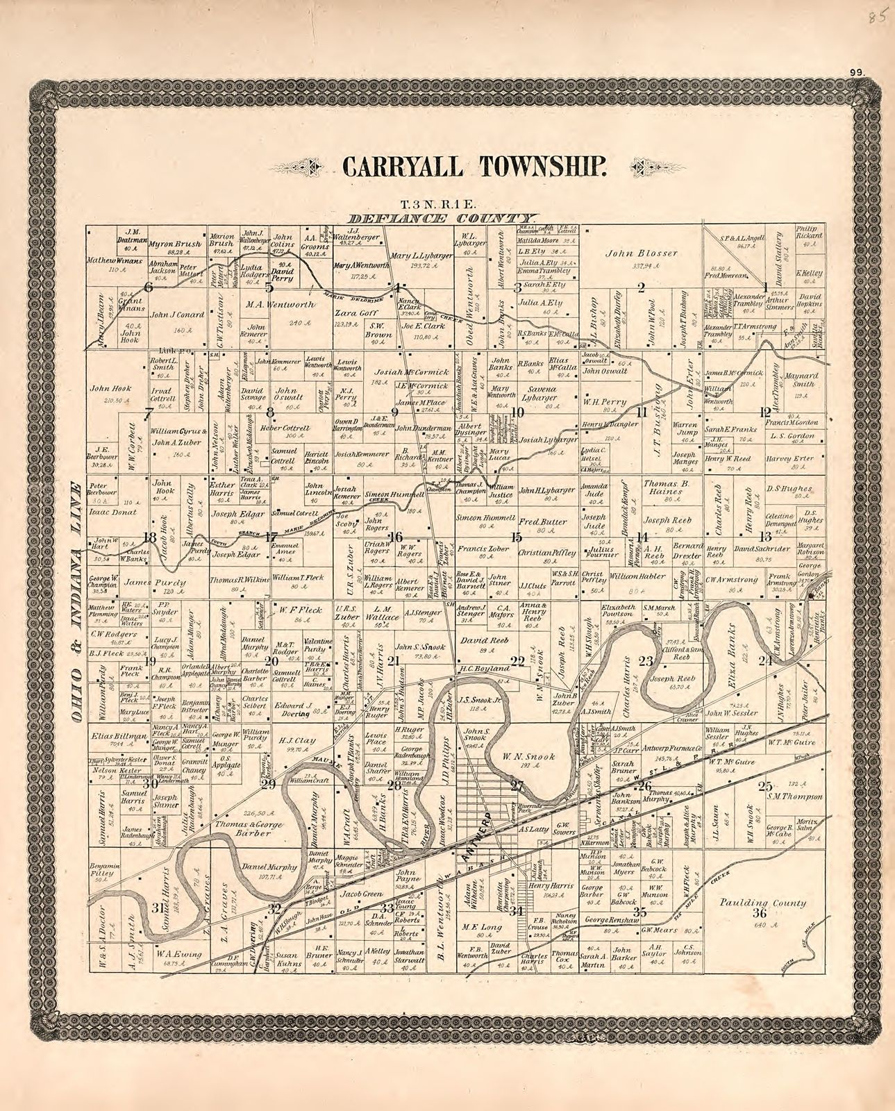 Historical Atlas Of Paulding County Ohio Containing Maps Of