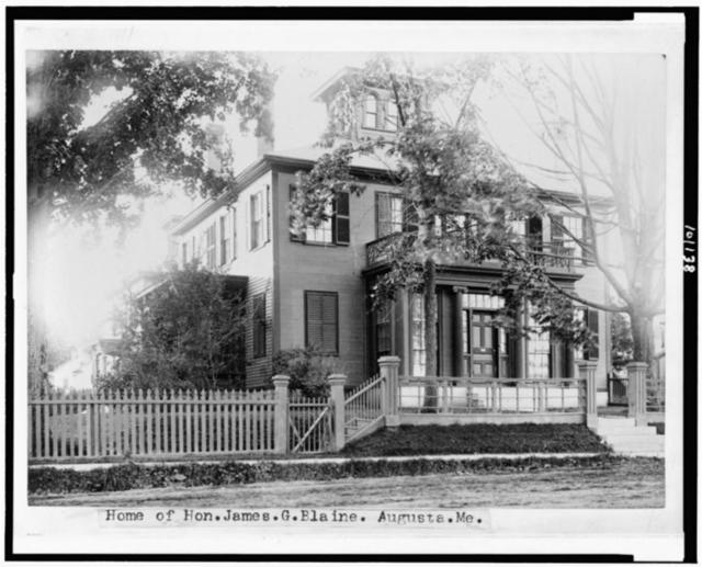 Home of Hon. James G. Blaine, Augusta, Me.