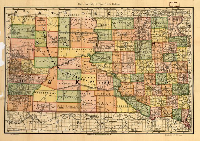 Indexed county and township pocket map and shippers guide of South Dakota.