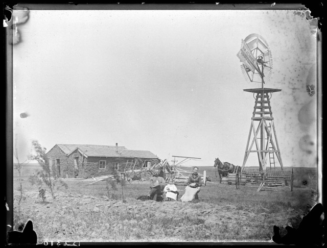Jim Long's sod and cement house, Callaway, Custer County, Nebraska.