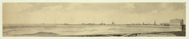 Lake front, Michigan Avenue, Chicago, Illinois in 1865 / taken from the eastern extension of the north pier of Chicago River by John Williams O'Brien, artist and proprietor, Highland Park, Ills.