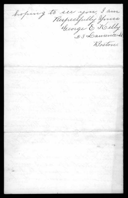 Letter from George E. Kelly to Alexander Graham Bell, December 2, 1892