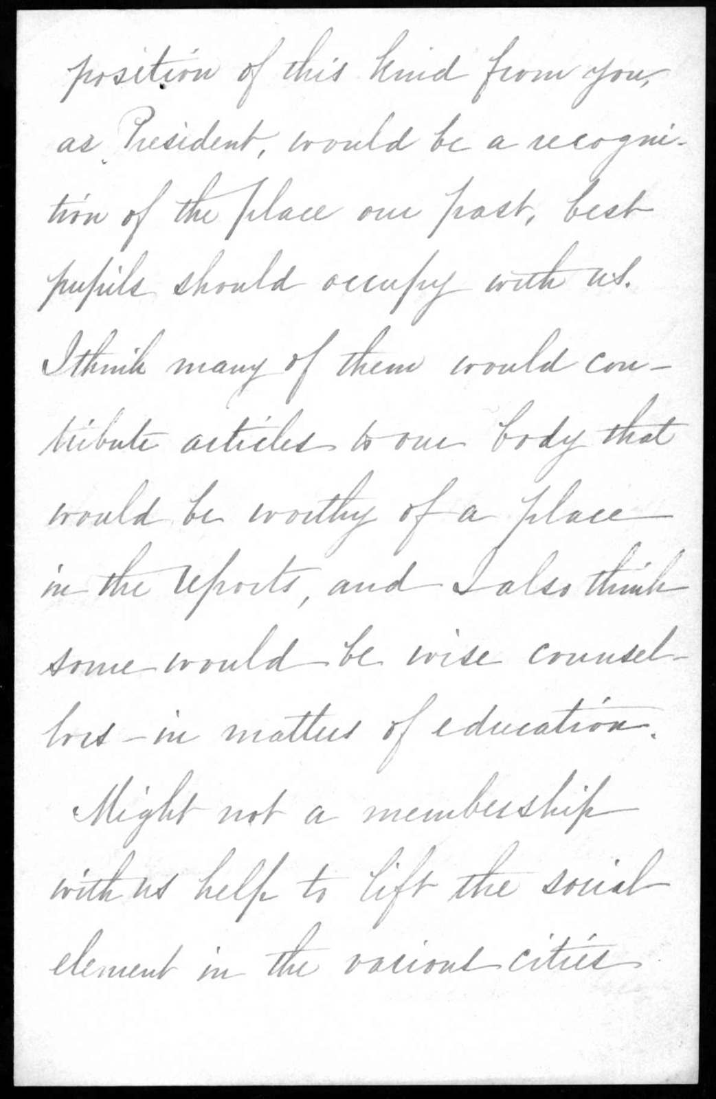 Letter from Sarah Fuller to Alexander Graham Bell, November 18, 1892