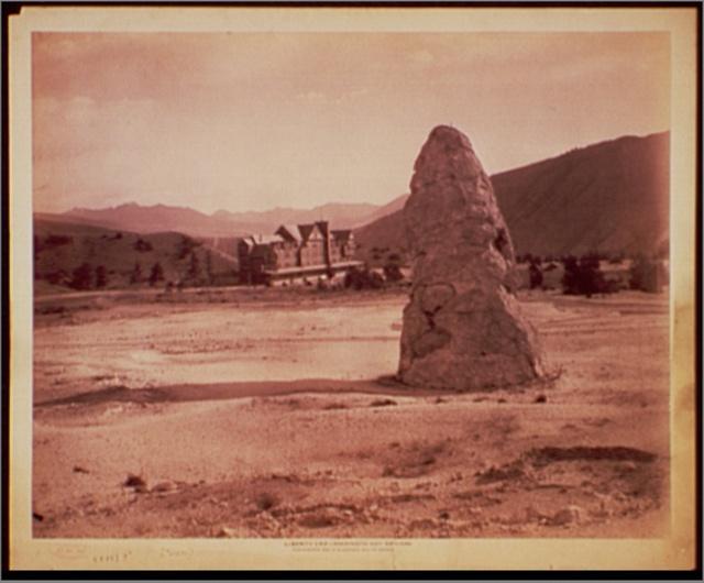 Liberty Cap, Mammoth Hot Springs