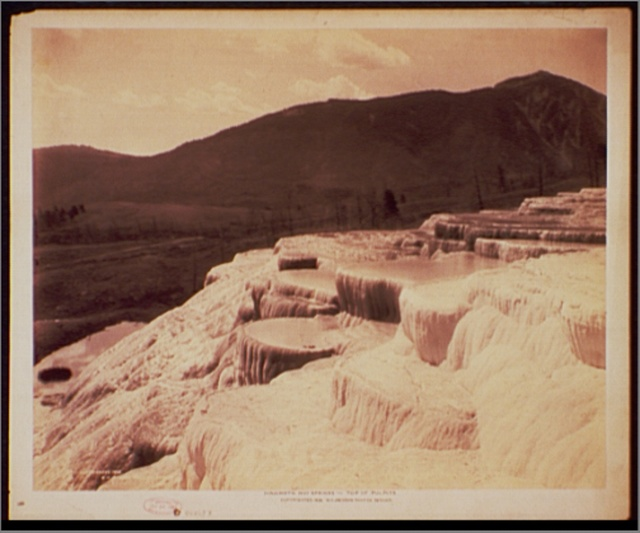 Mammoth Hot Springs, top of pulpits