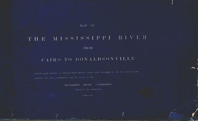 Map of the Mississippi River : from Cairo to Donaldsonville.