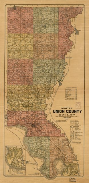 Map of Union County, South Dakota : compiled and drawn from official records and a special survey /