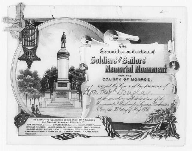 Monroe County, N.Y., Soldiers' and Sailors' Memorial Monument, 1892