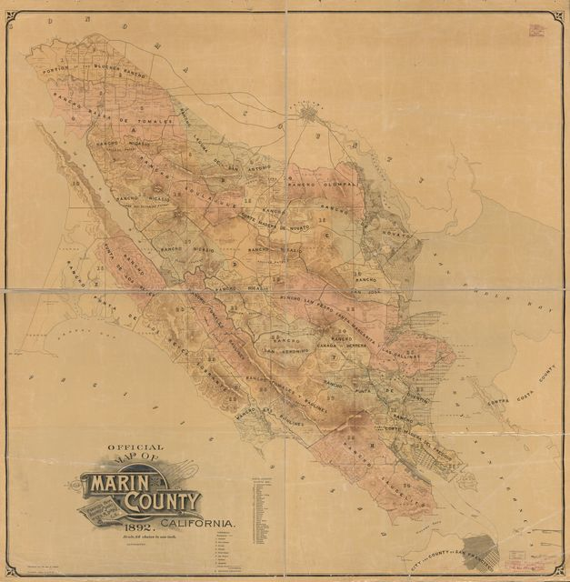 Official map of Marin County, California /
