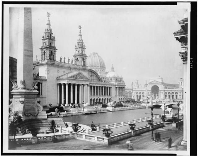 [Palace of Mechanic Arts and lagoon at the World's Columbian Exposition, Chicago, Illinois]