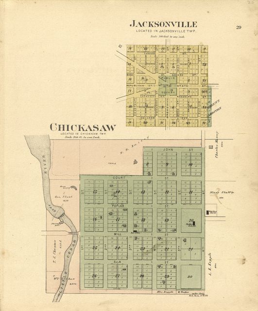 Plat book of Chickasaw County, Iowa : drawn from actual surveys & county records /